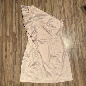 One Shoulder Satin Dress - Forever 21